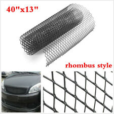 "Black Universal Aluminum Car Vehicle Body Grille Net Rhombus Mesh Grill 40""x13"""