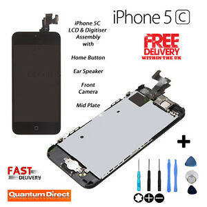 NEW iPhone 5C Retina LCD Digitiser Touch Screen Assembly Replacement with Parts