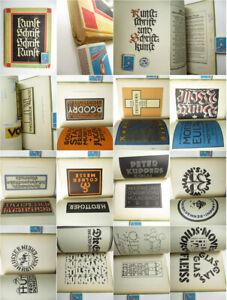 Typografie Schriftarten Alphabete Lettering 1927 Kunstschrift und Schriftkunst