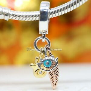 Authentic Pandora Hamsa, All-seeing Eye & Feather Spirituality 768785C01 Charm