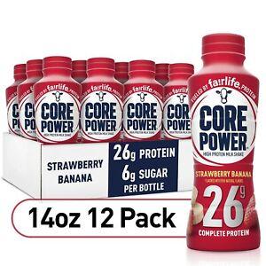 Fairlife Core Power High Protein Milk Shake 26G | Strawberry Banana | Pack of 12