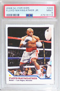2008 -Floyd Mayweather Jr- PSA 9 Sports Illustrated for Kids Rookie Boxing Card