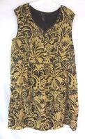Lane Bryant Womens Sheath Dress Sz 24 Plus Brown Black Sleeveless Lined CB24J