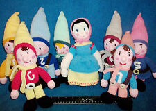 "SNOW WHITE & THE 7 DWARFS - 8 HAND KNITTED FIGURES, 10"" - JEAN GREENHOWE DESIGN"