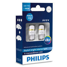 Philips X-treme ultinon LED W5W 4000K Blanco Cálido Bombillas coche interior (twin)