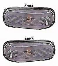 SAAB 9000 900 9-3 9-5 Side Marker Fender Lights PAIR CLEAR 1987-2001