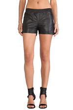 ANINE BING Black Leather Running Shorts sz XS EUC