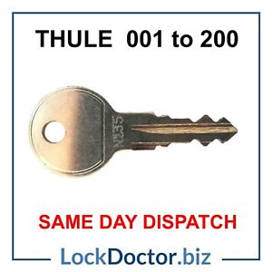 Thule HALFORDS Roof Box/ Roof Rack Keys to Code (001 to 200) SAME DAY DISPATCH
