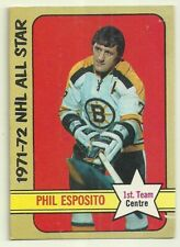 1972 72-73 OPC NHL ALL STAR 1ST TEAM BRUINS PHIL ESPOSITO #230 VG/EX+ CLEAN BACK