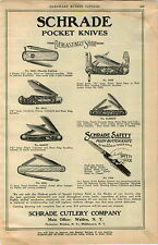 1925 ADVERTISEMENT Schrade Pocket Knife Knives Push Button Walden NY