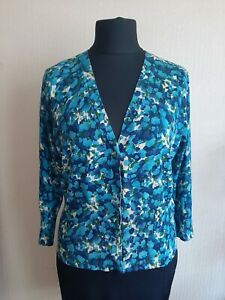 womens AK ANNE KLEIN  XL 18 top blouse cardigan floral casual stylish