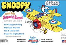 Peanuts Snoopy In His Sopwith Camel Plane Atlantis Models  Reissue New PRESALE
