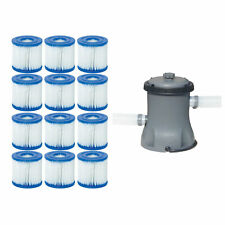 Bestway Pool Filter Pump Cartridge Type VII / D (6 Pack) + Pool Filter Pump