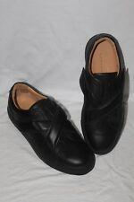 CARVEN Chaussures Sneakers Basses Ville Noir Cuir Velcro  - Taille 41 - 9200SC27