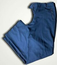 Tahari Women's Size 14 Dress Pants Straight Leg Blue Slacks