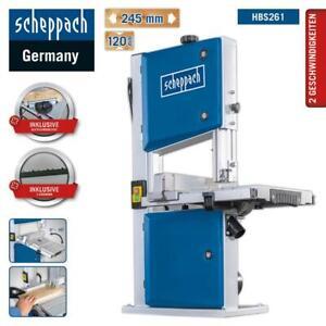 Scheppach Bandsäge HBS261 inkl. 2 Sägebänder Quersschneidlehre Holzbandsäge
