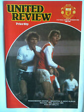 MINT 1980/81 Manchester United v Brighton 1st Division with Token