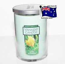 YANKEE CANDLE * April Showers * LARGE 2 WICK TUMBLER  * FLORAL SCENT