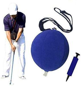 Golf Swing Training Aid Ball Trainer Smart Practice Correction Adjustable Arm UK