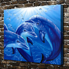 Dolphin Playground Paintings HD Print on Canvas Home Decor Wall Art Picture