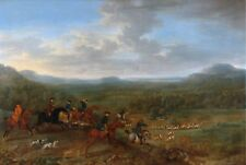 "John Wootton, A FOX HUNT, HORSE, Hunting Dogs, antique decor, 24""x16"" Art Print"