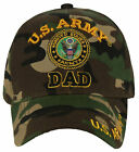 NEW! US ARMY DAD ROUND BALL CAP HAT GREEN CAMO