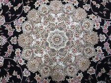 6' X 9' Vintage Hand Made Fine Persian Tabriz Nain Silk Accents Wool Rug Carpet