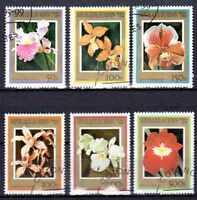 Flora - Orquideas Benin (11) serie completo de 6 sellos matasellados