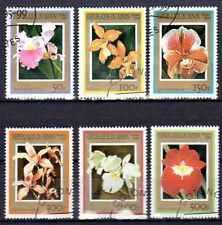 Flore - Orchidées Bénin (11) série complète de 6 timbres oblitérés