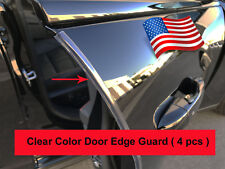 4pcs set CLEAR DOOR EDGE GUARD Protection Trim Molding Stripe forKiaModels #1