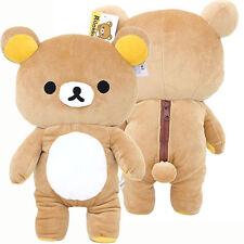 "Rilakkuma Large Plush Doll 15"" Microfiber Soft Stuffed Toy with Beans Licensed"