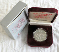Singapore 1999 il Parlamento prova SILVER 5 dollari-Boxed