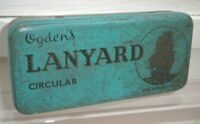 VINTAGE Ogden's LANYARD Tobacco Tin with Hinged Lid - Rectangular / NAUTICAL