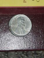 1943 Lincoln Wheat Cent Steel War Penny Struck Off Center Mint Error Rare