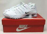 New Nike Shox Running Shoes Nz Eu White Black 501524 106 Mens Size 10.5