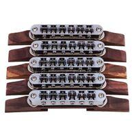 5xGuitar Tunomatic Bridge Saddle Copper Rosewood for Archtop Jazz Guitar