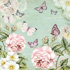 20 x Table Paper Napkin/Decoupage/Dining/Craft/Vintage/Quality/Botanical Green