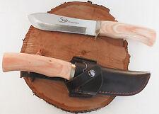 Couteau Chasse Pêche Steel 440 Acier 7cr17 mov +Etui cuir