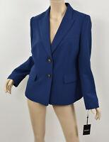NWT DKNY Donna Karan Seascape Navy Blue Two-Button Crepe Blazer Jacket M 10