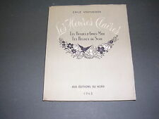Illustré moderne E. Verhaeren les heures claires Ed. du Nord 1943 numéroté