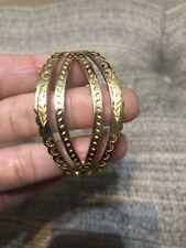 Solid 18k Yellow Gold Native American Christina Foundrae Cuff Alexiou Bracelet