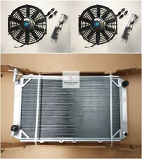 Radiateur en Aluminium & FANS pour NISSAN PATROL GQ Y60 2.8 4.2 Diesel TD42 & 3.0 Essence