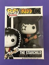 The Starchild Kiss Paul Stanley Funko Pop Rocks #06 RARE Hard to find + P/P