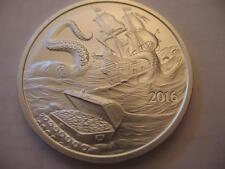 1-Oz. Pure .999 2016 Kraken Silver Island Pirate Ship Silver Is Money + Gold