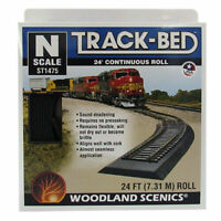 Woodland Scenics ~ New 2020 ~ N Scale 24 Foot Continuous Roll Track-Bed ST1475