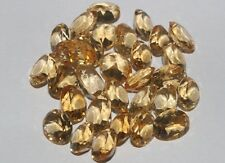 55CRTS NATURAL GEMSTONE BRAZILIAN CITRINE FACETED OVAL CUT 30PCS LOT #673