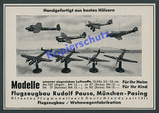Luftwaffe Modellbau Rudolf Pause München Pasing Junkers Dornier Luftfahrt 1941