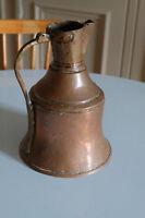 Rare grand pichet pot à lait cuivre et laiton XIXème siècle