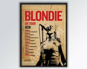 BLONDIE DEBBIE HARRY reimagined 1978 UK Tour Poster A3 size.