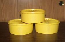 3 VINTAGE TUPPERWARE SERVALIER STACKABLE CANISTERS